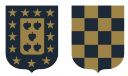 These two heraldic shields represent the founders of the Bodegas Muriel winery. The first shield is the heraldic shield of the Murua surname, representing Julian's fathers family and the other, belongs to the surname Entrena representing Julian's mothers family. Heraldry is the practice of designing, displaying, and recording coats of arms and heraldic badges. Heraldry, as it is known in the world today, was first introduced in Spain as an art form. Historical records indicate that it was initiated in the 11th century and was developed for the purpose of assigning ranks to knights and nobles in the battlefield.