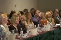 Fans of food and Guest Chef Michael Chiarello during the Napa icon's cooking seminar.