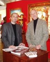 Taste of Vail's official artist, Anton Arhkipov, left, and his agent, Kevin Frest.