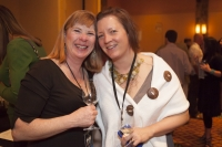 Angela Mueller and Kathie McNeill at Grand Tasting