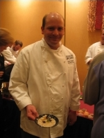 Chef Steven Topple of Beano's Cabin samples the competition at the Grand Tasting.,