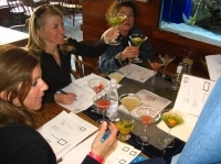 Judging margaritas is not an easy task. Just ask judges, from left, Laura Levy, Tricia Swenson and Kendra Wilcox.