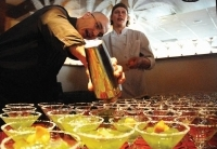 Mike Baugh of Restaurant Kelly Liken pours his Cilantro Margarita at the Bar Chefs Mix-Off.