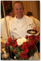 Executive Chef Tim McCaw of Zach's cabin proudly displays his delicious offering at Taste of Vail's Grand Tasting, Auction & Dance at the Vail Marriott Mountain Resort & Spa.