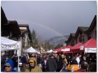 At the end of this rainbow, spotted Wednesday, April 5, at Taste of Vail this year, is the second annual Colorado Lamb Cook-Off in Vail Village.