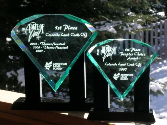 Taste of Vail competition trophies